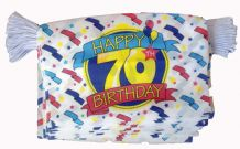 HAPPY 70TH BIRTHDAY BUNTING - 9 METRES 30 FLAGS